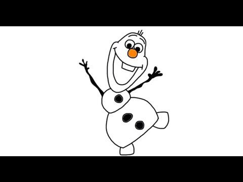 how to draw olaf the snowman from disneys frozen movie in full