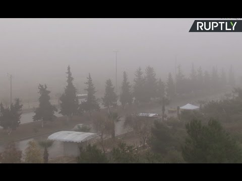 View of Aleppo as Syrian ceasefire gets underway (streamed live)