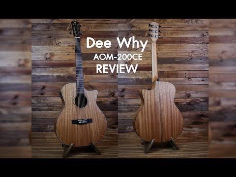 [Music Review] กีต้าร์โปร่งไฟฟ้า Dee Why AOM-200CE by FreedomUku