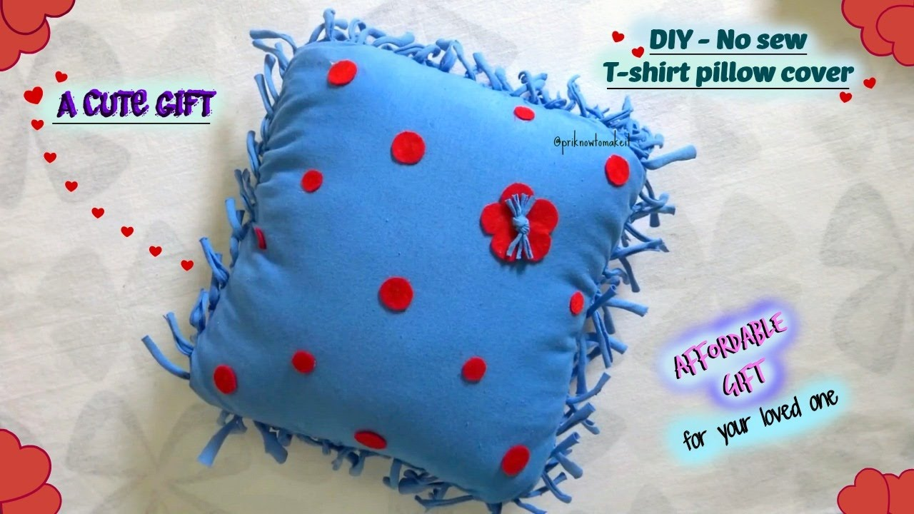 diy no sew cushion cover t shirt pillow cover affordable gift