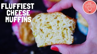 Fluffiest Breakfast Cheese Muffins Recipe | Easy Cheese Muffins Recipe