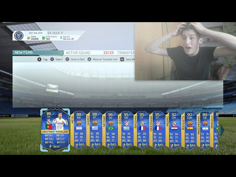 99 TOTS RONALDO & 98 TOTS MESSI IN 1 PACK!!! - FIFA 16 Pack Opening (Website)