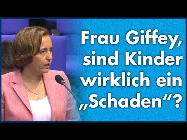 """Beatrix von Storch (AfD) - Frau Giffey, sind Kinder wirklich ein """"Schaden""""?"""
