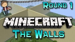 Minecraft: The Walls Best of Three w/Mitch & Friends! Round One!