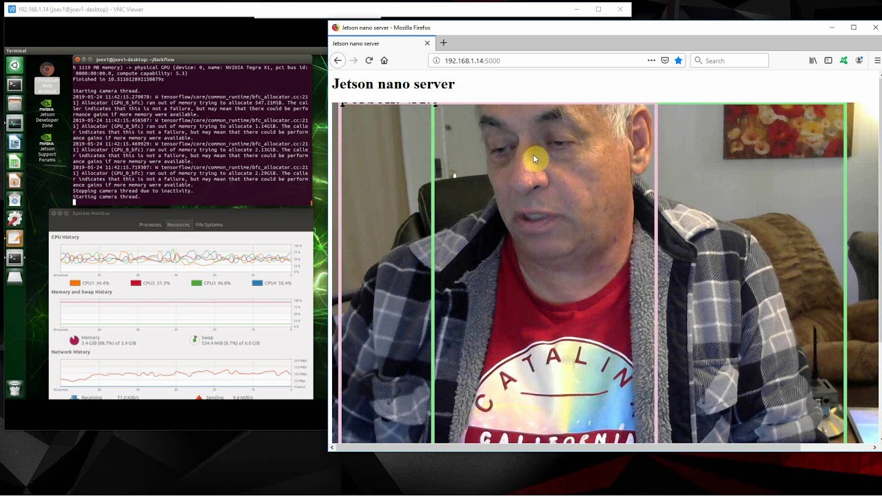 jetson nano yolo darkflow webserver