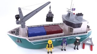 Playmobil Cargo Ship w/ Loading Crane reviewed! set 5253