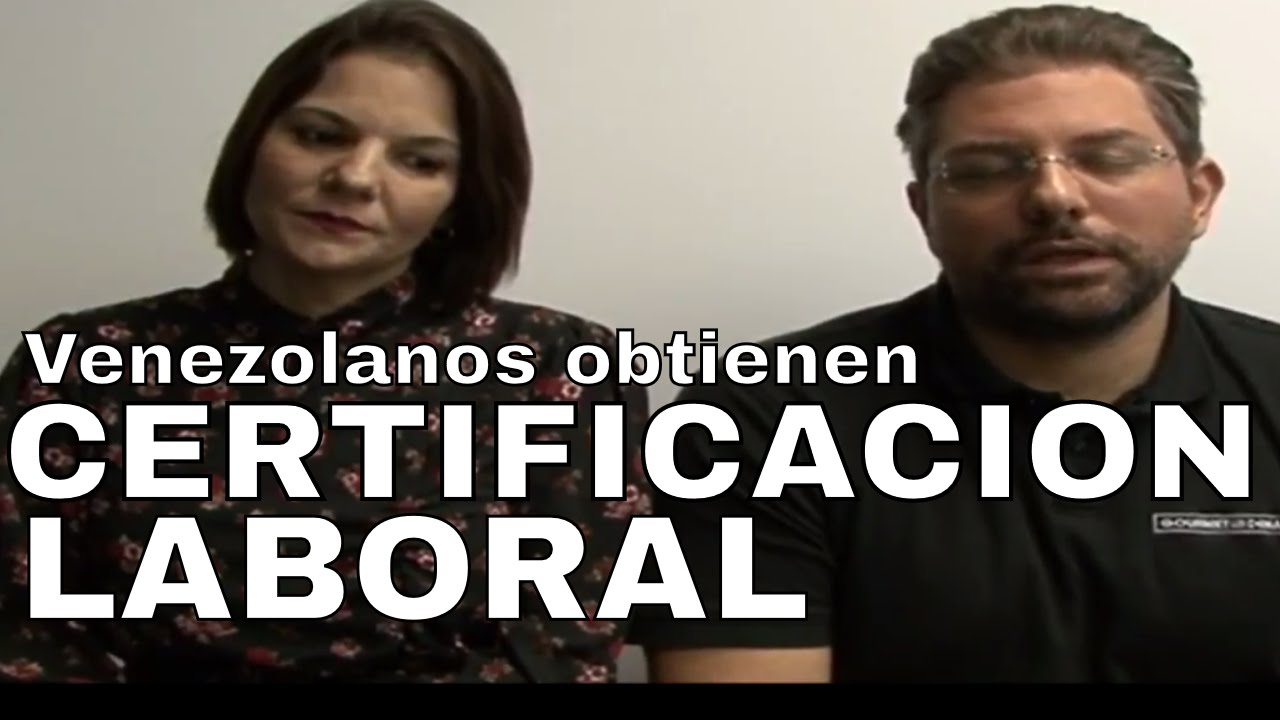 Eduardo Soto logra CERTIFICACION LABORAL para inmigrantes ...