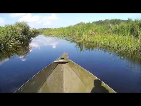 Охотничья складная лодка Чкаловка -  восьмиклинка.  По заросшей реке