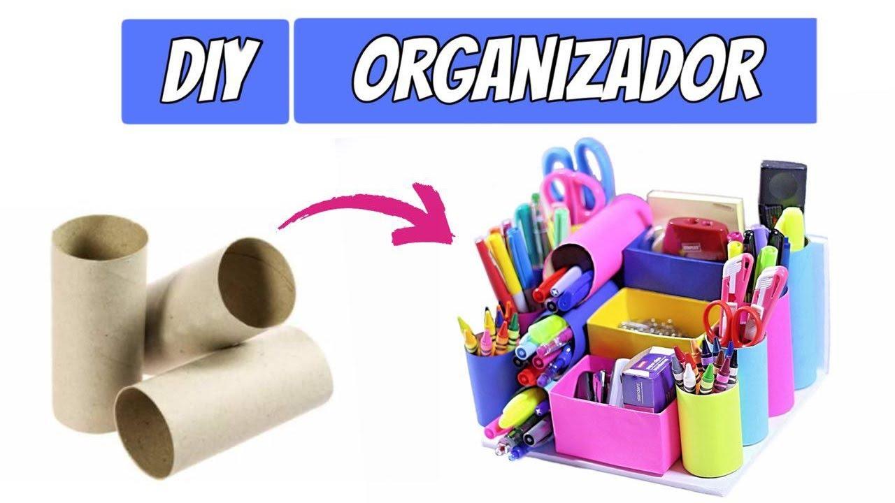Diy organizador de rolo de papel higi nico youtube - Organizador de papeles ...