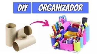 DIY – Organizador feito com rolos de papel