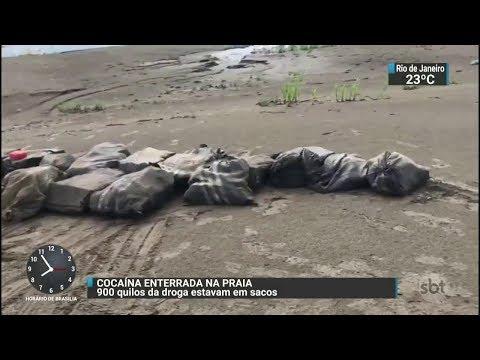 Polícia apreende 900 kg de cocaína no Amazonas   SBT Brasil (31/10/17)