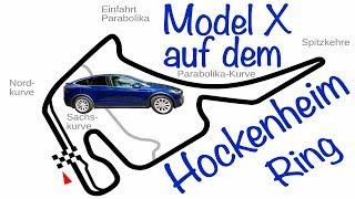 Hockenheimring - mit dem Tesla Model X auf der Rennstrecke - wie schnell wird der Motor heiß?