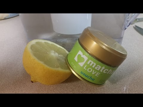 Matcha Green Tea Lemon Water I Superfood