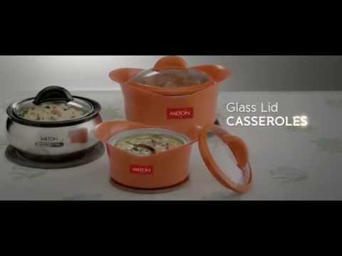Milton Glass Lid Casseroles TVC
