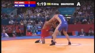 QUALIFICATION Freestyle 60 Kg (PUR) Franklin GOMEZ MATOS Vs (RUS) Besik KUDUKHOV