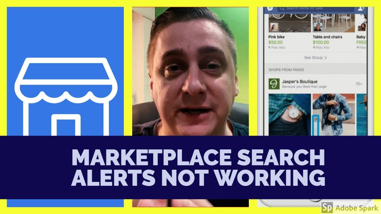 Facebook Marketplace search alert notification not working