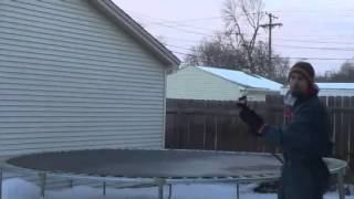 How To Have Fun In The Minnesota Cold: Freeze The Trampoline