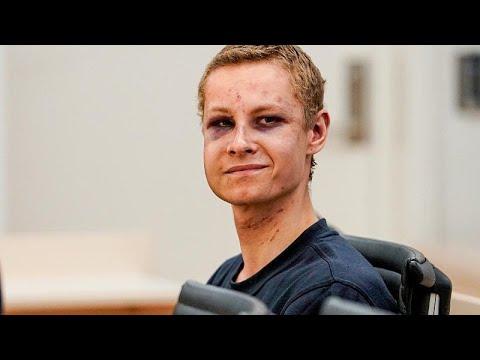 فيديو: مثول المشتبه به في الهجوم على المسجد في النرويج أمام المحكمة…  - 19:53-2019 / 8 / 12