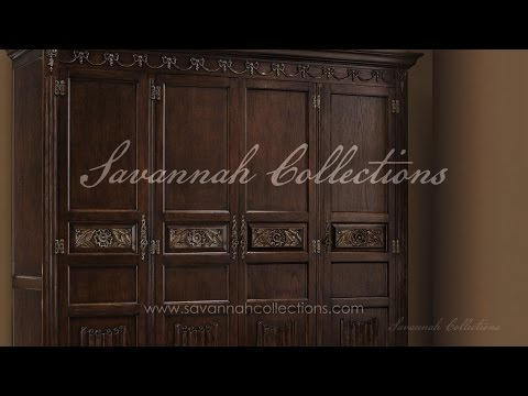 Victorian Furniture Armoire (Antique Cocoa) by Savannah Collections - Century Furniture