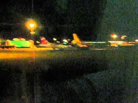 Stuttgart airport, taxi for departure