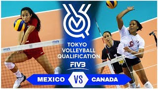 MEXICO vs CANADA | Highlights - Women | Volleyball Olympic Qualifying Tournament 2019 (HD)