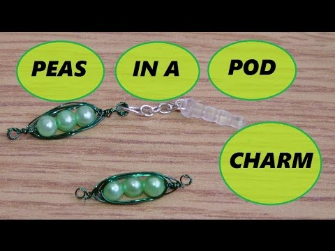 Peas In A Pod Charm (collab with Beadaholic94)