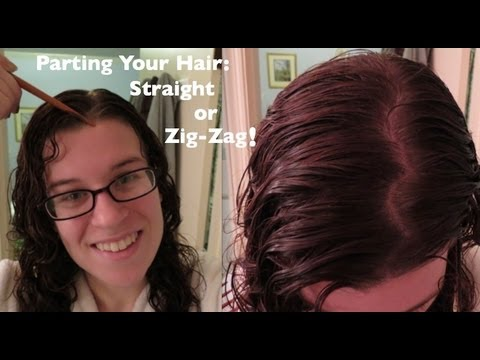curl care parting hair zig-zag