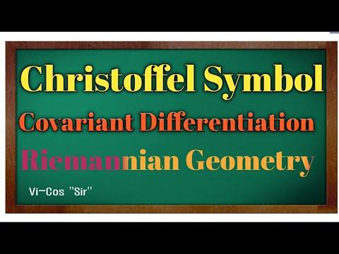Christoffel Symbol Covariant Differentiation_Riemannian Geometry.Maths Brainstorm By Vikas Mishra.