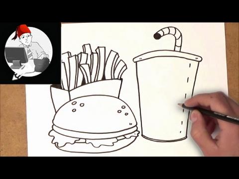 كيفية رسم المواد الغذائية غير الصحية Youtube
