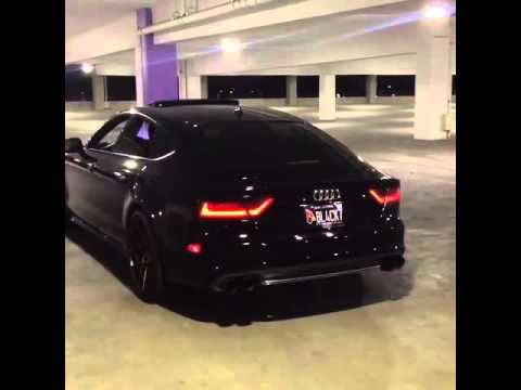 Vader Audi A7 Sportback making thunder at car park w/ ARMYTRIX Cat-Back Valvetronic Exhaust