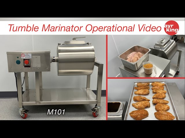 AYRKING TUMBLE MARINATOR OPERATIONAL VIDEO