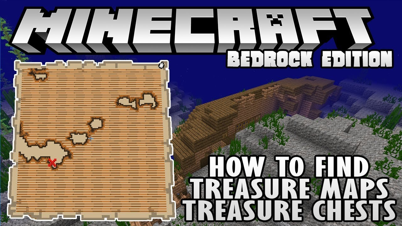 How To Find Treasure Maps and Treasure Chests in Minecraft 1 3 Bedrock  Edition (XB1, PE, W10)