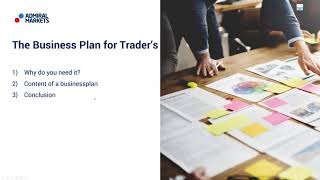 A Trader's Business Plan: Forex & CFD Trading with a plan
