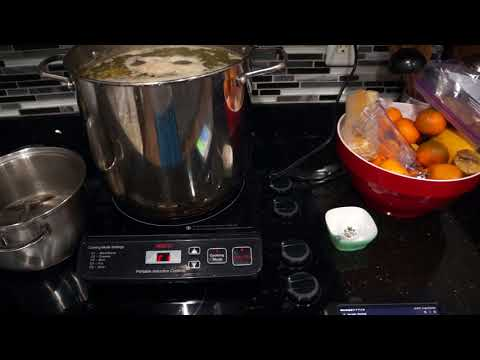 Induction Cooking with Lithium Battery and Solar Power at 10pm!