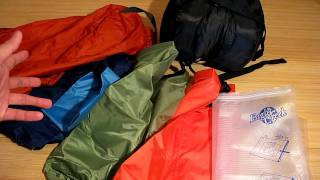 Stuff Sacks, Dry Bags, and Compression Sacks