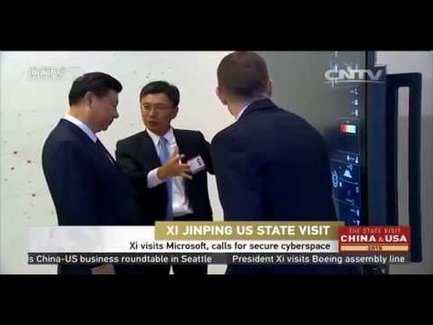 Xi visits Microsoft, calls for secure cyberspace