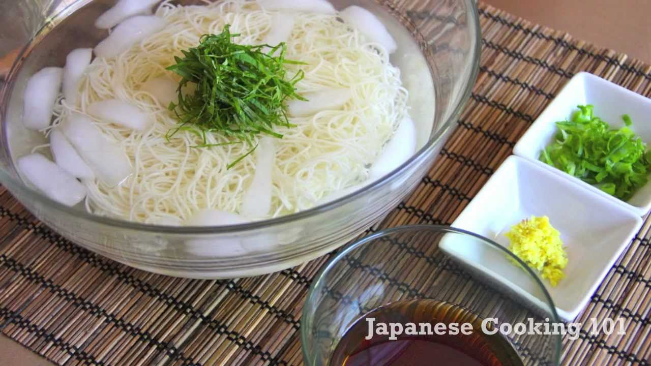 Somen Cold Noodle Recipe Japanese Cooking 101 Youtube