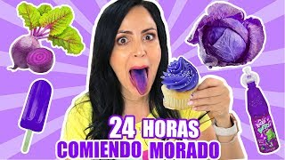 24 HORAS COMIENDO MORADO | RETO SandraCiresArt | All Day Eating Purple Food Challenge