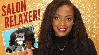 My Salon Relaxer Routine | CLEAR & DETAILED Video Demo!