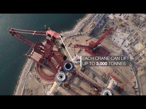 Construction update of Bluewaters Ain Dubai - UAE