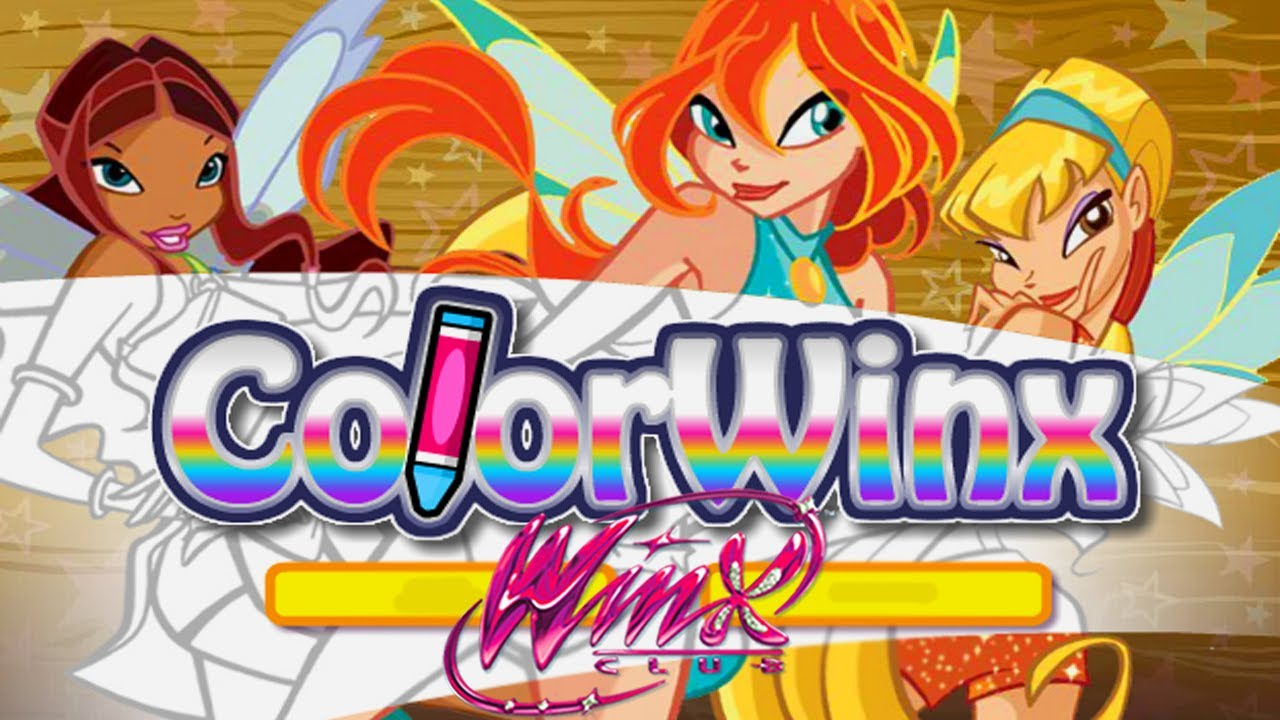 winx club color winx coloring game for kids youtube