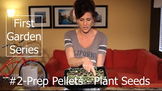 First Garden Series #2 How to Plant Seeds in Soil Pellets and Planting Lettuce and Kale Seeds