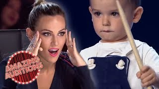 BABY Drummer Sends The World Into MELTDOWN With AMAZING Talent | Amazing Auditions