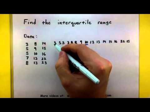 Statistics compute the interquartile range youtube statistics compute the interquartile range ccuart Images