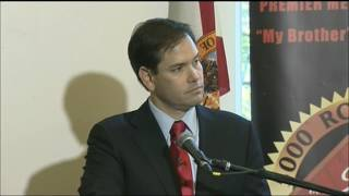 Senator Marco Rubio with John Lewis in Miami on Martin Luther King Day