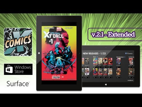 Comics by ComiXology v.2 on Surface Tablet with Windows RT -  Extended Edition