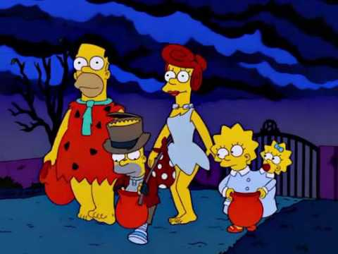 The Simpsons - Halloween Burns in Horror!! - YouTube