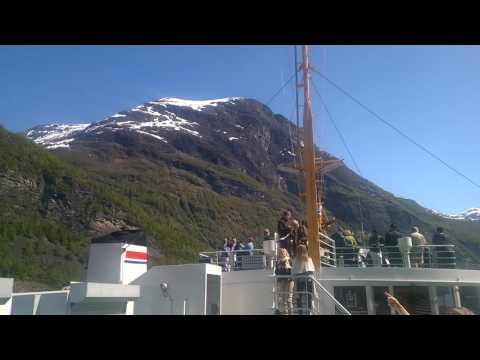Geiranger fjord ferry boat
