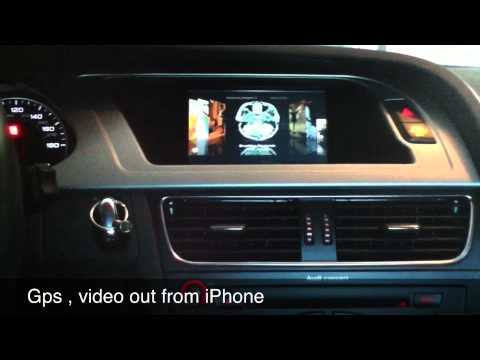 audi a4 b8 gps touchscreen video interface youtube. Black Bedroom Furniture Sets. Home Design Ideas