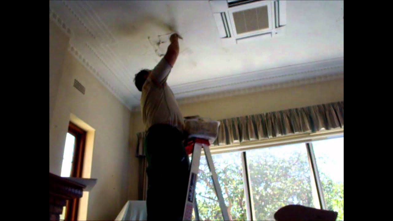 Plastering How to Repair a Hole in Ceiling Hawthorn Plaster